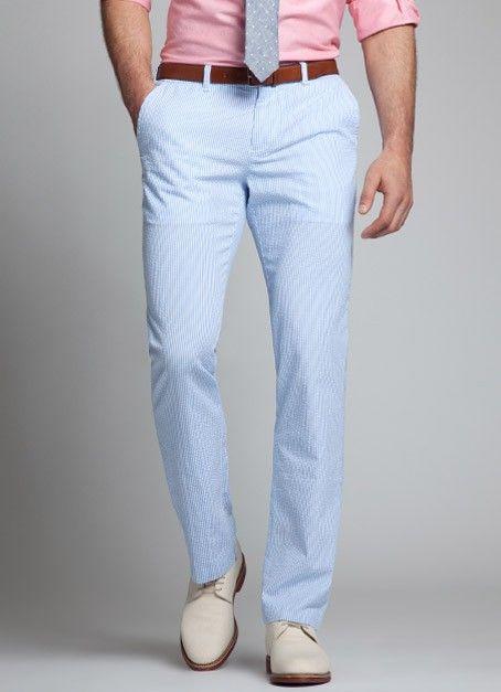 Seersucker Mens Outfits Seersucker Pants Formal Mens Fashion