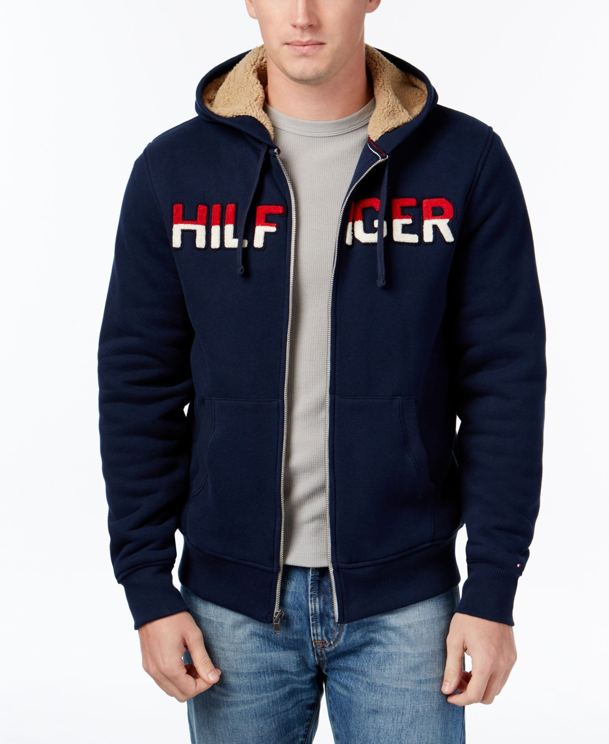 Tommy hilfiger coltrane logo sweater with fleece lining products