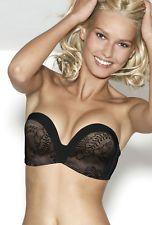 dfc89da43c Wonderbra Ultimate Strapless Lace Bra 9469 Black Sizes 30-38 A-D cups