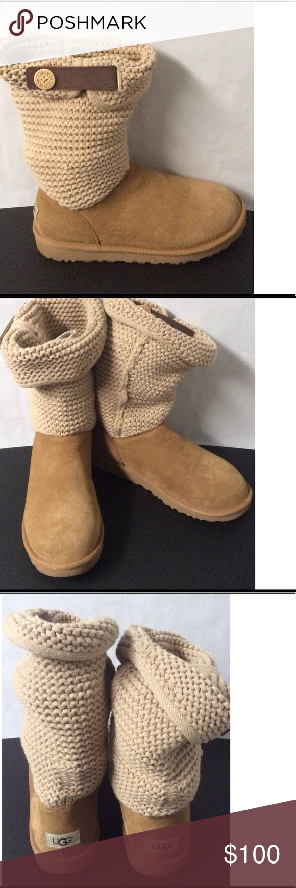 f5c6616bc2b Women Shaina UGG Boots Size 10 acrylic , cotton , suede. leather ...