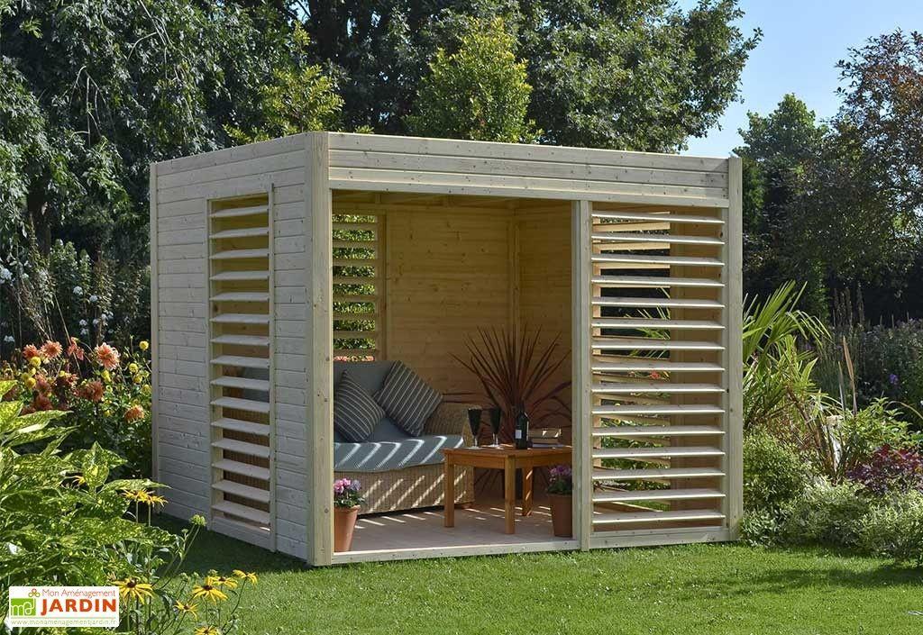 Abri de Jardin Bois Design 19mm Arty 264x256x223cm | Barbecue and ...