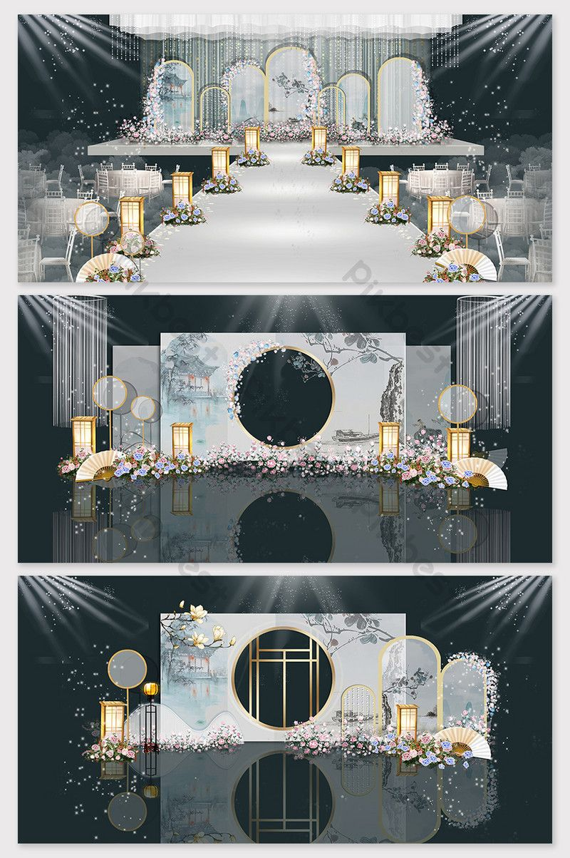 Modern fashion new Chinese wedding effect picture | Decors ...