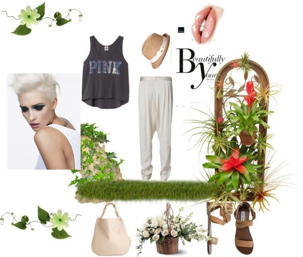 white pants, created by anton11 on Polyvore