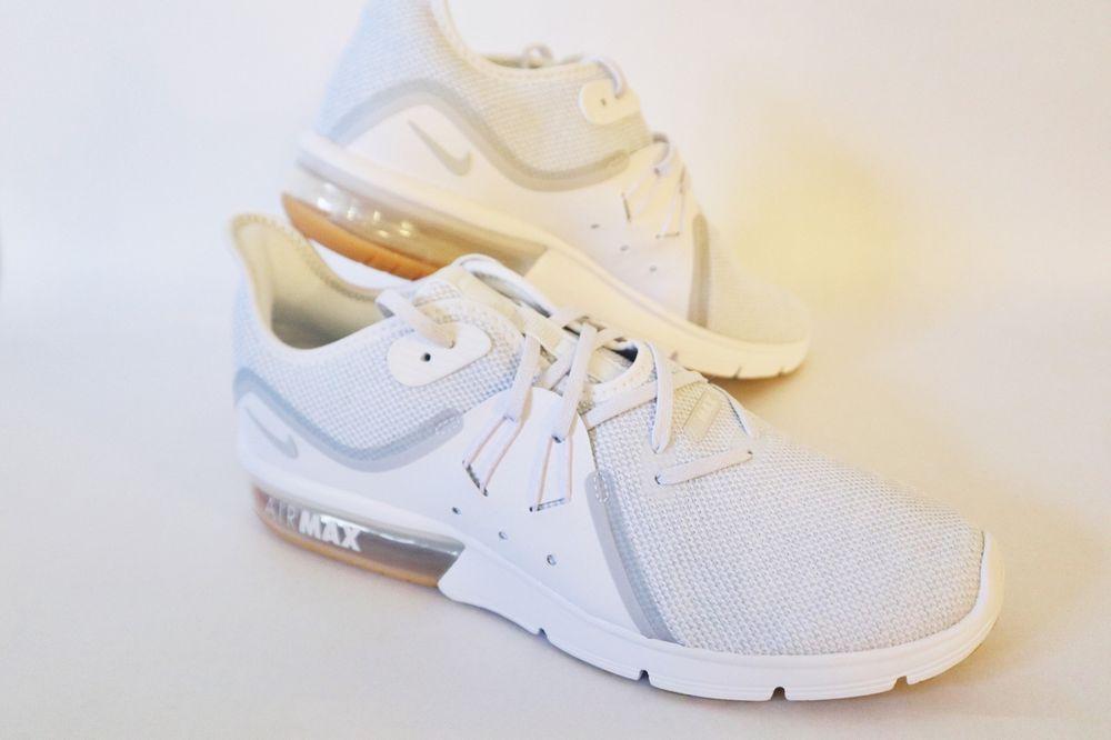Sequent Mens Air Gum Platinum WhitePure Nike Max 3 Running