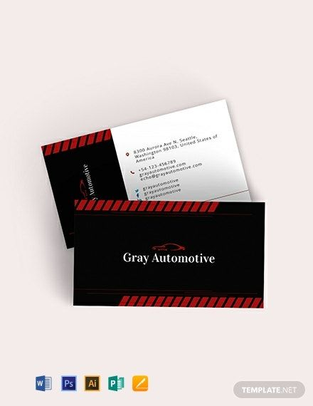 Instantly Download Auto Repair Business Card Template ...