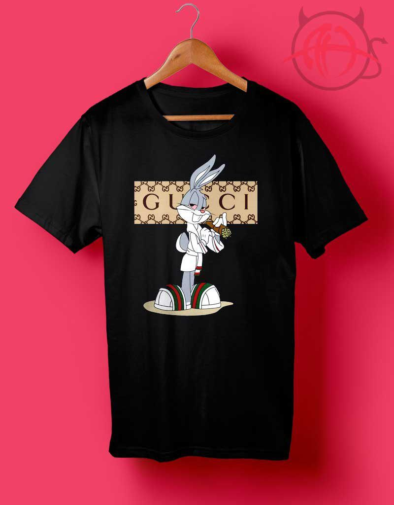 4f4a8a18 Rabbit Bugs Gucci Parody T Shirt | Custom Cheapest Shirts in 2019 ...