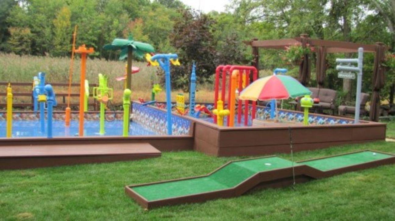 44 Gorgeous Backyard Playground Kids Design Ideas Pimphomee Backyard Playground Playground Design Kids Playground Backyard diy water park