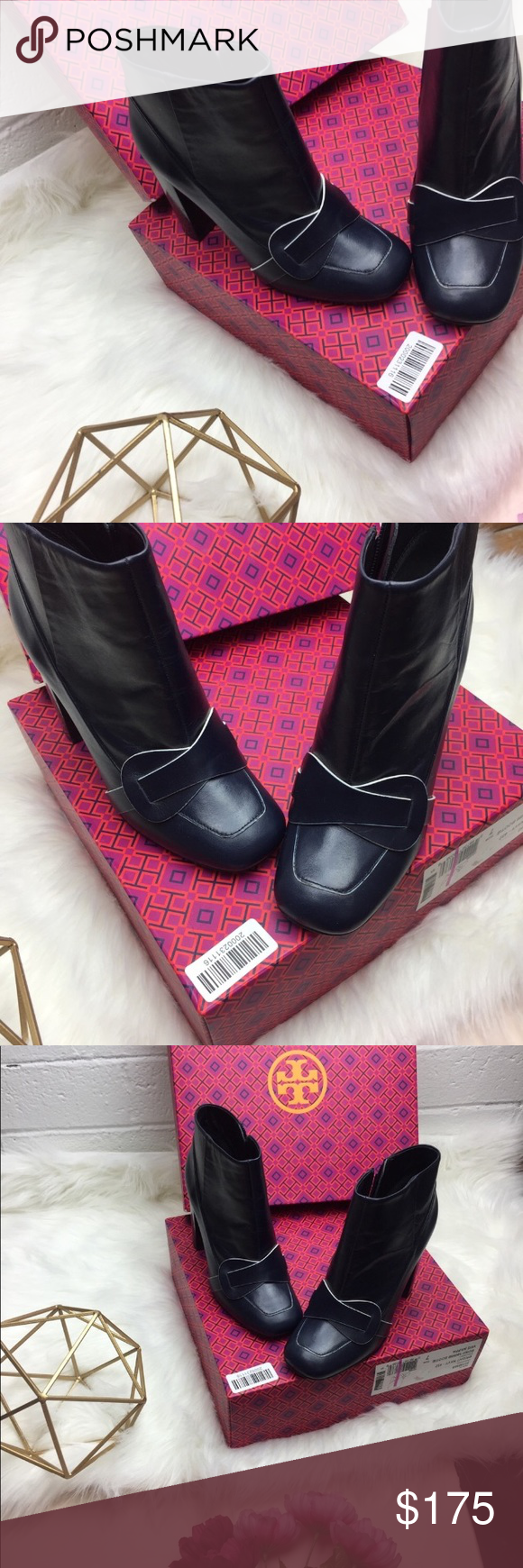 e742d9a9be90 Tory Burch bond bright navy blue booties 7m Brand new with the box No trade