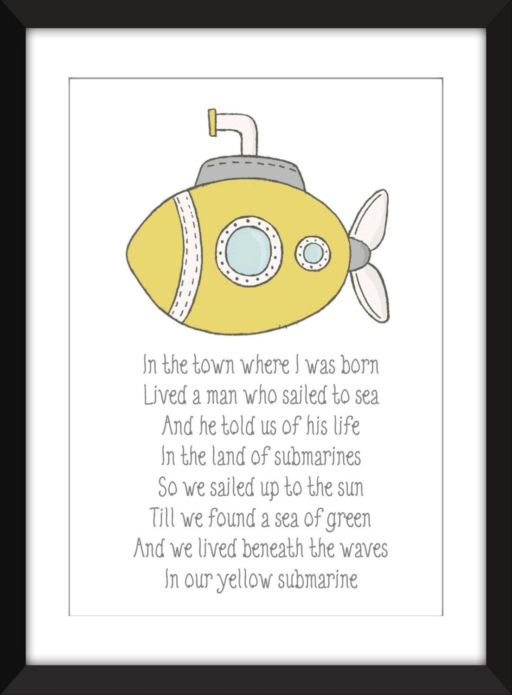 Yellow Submarine Lyrics