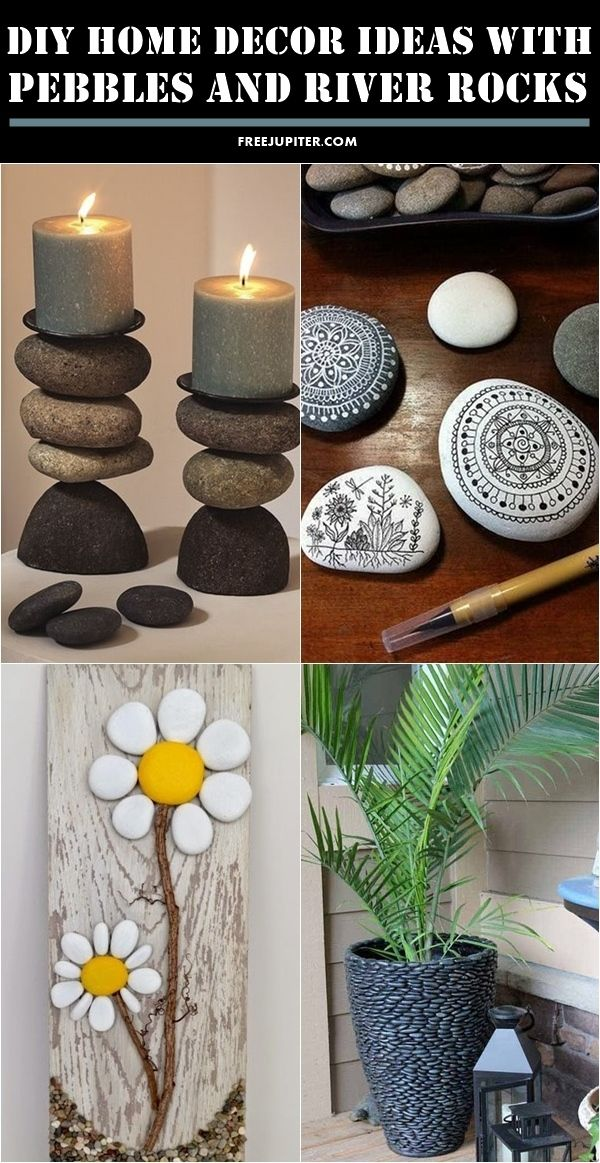 10 Creative Diy Home Decor Ideas With Pebbles And River Rocks