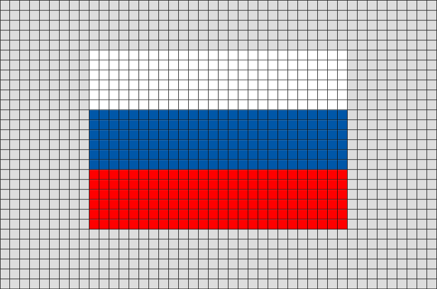 Flag of Russian Federation Pixel Art from BrikBook.com ...