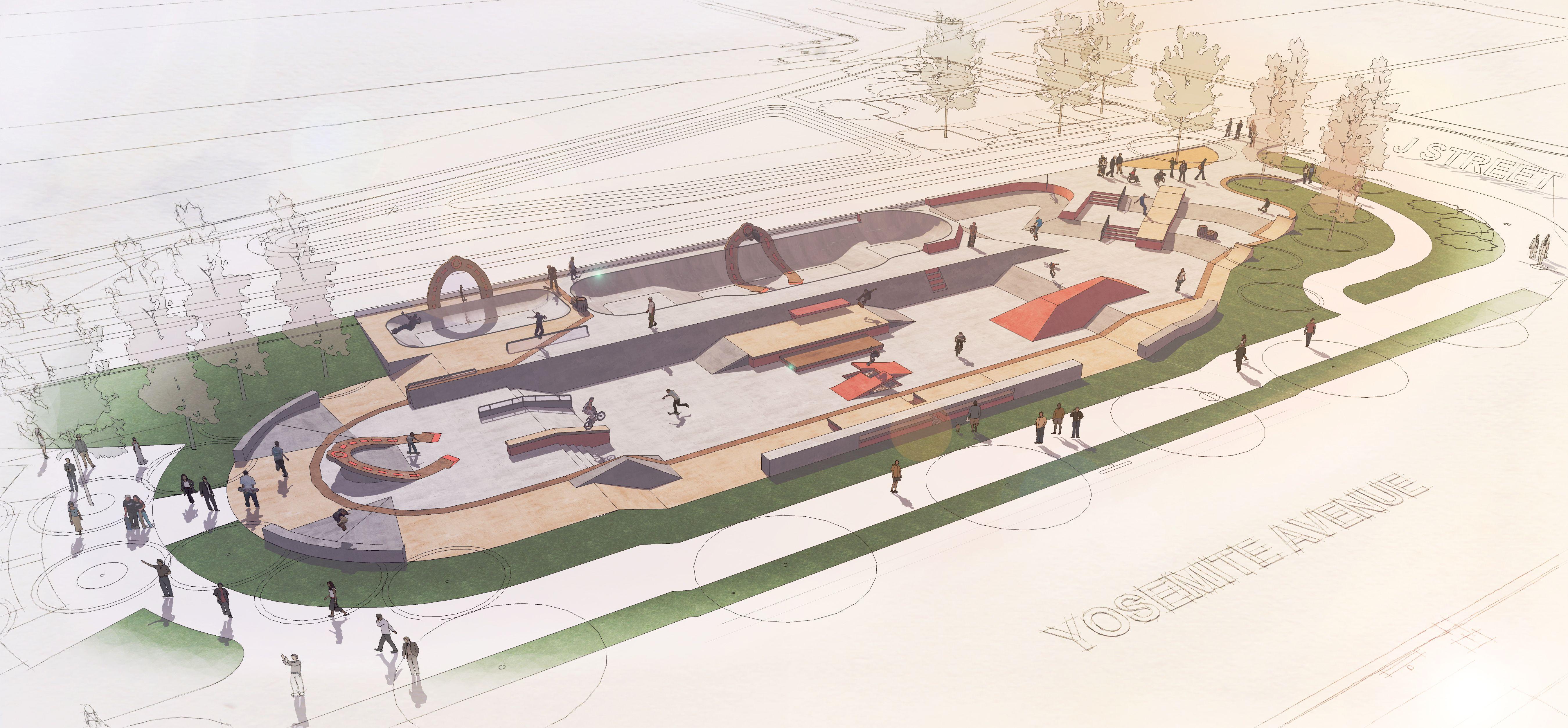 Roller skating rink milpitas - Landscape Skating Perspective Google Search