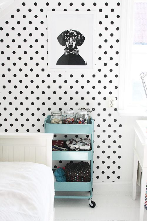 Dachshund Rocking A Bow Tie Polka Dot Walls Mommo Design Home