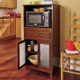Furniture Dining Room Lounge Seventh Avenue Glass Cabinet Doors Microwave Storage Microwave Cabinet