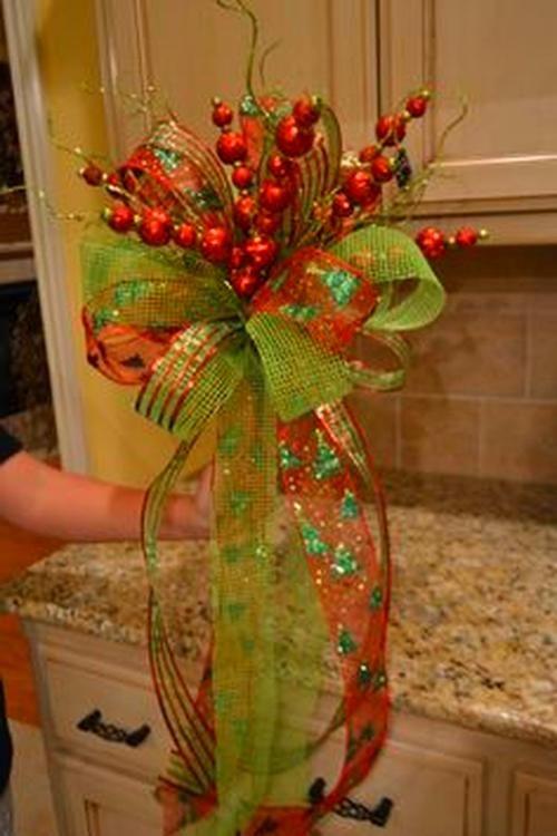 Ribbon On Christmas Tree Ideas - Angela Smith's Blog #ribbononchristmastreeideas