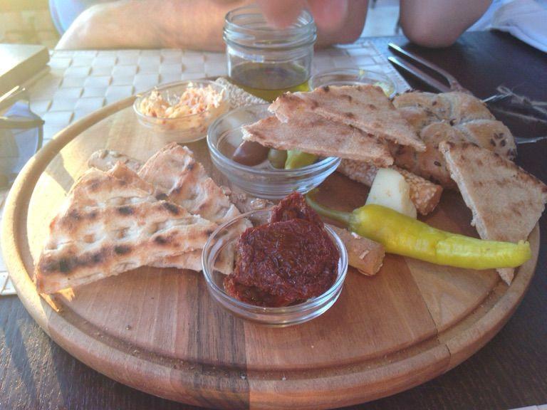 Bread sharing plate ...Kyma Beach - Pefkos .Rhodes