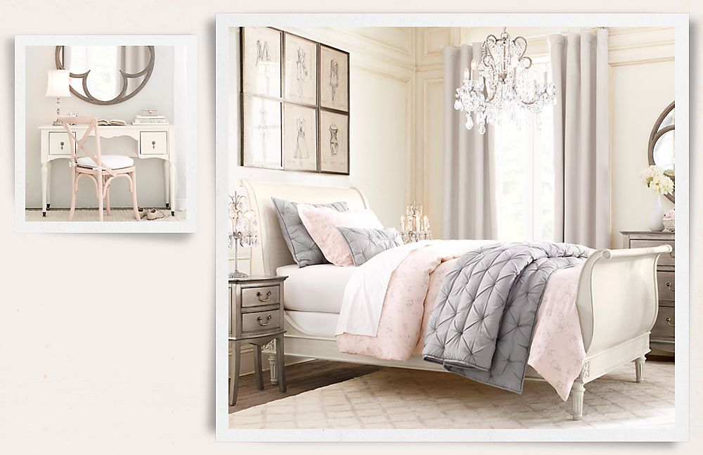 High Quality In Love With This Gray/soft Pink Room. Perfect Chandelier. Looks So Elegant
