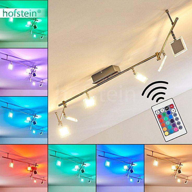 LED Deckenleuchte Parnu aus Metall Chrom/Nickel matt - Zimmerlampe