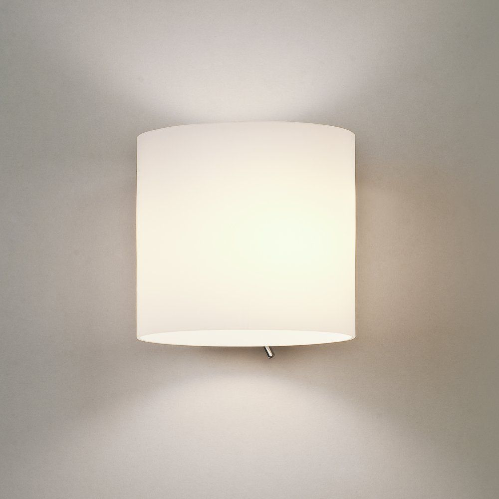 Exceptionnel Astro 0411 Luga 1 Light Switched Wall Light Painted Silver White Glass. Bedroom  Wall LightsLight ...