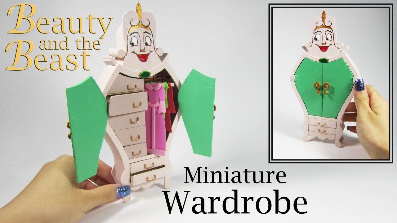 Miniature DIY: Beauty and the Beast Wardrobe - YouTube