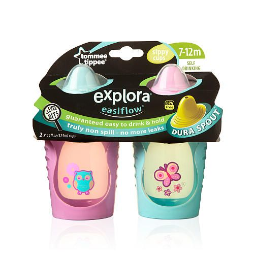 Tommee Tippee Explora Truly Spill Proof Sippy Cup 2pk Girls Styles Colors May Vary Tommee Tippee Baby Sippy Cup Best Baby Bottles Favorite Baby Products