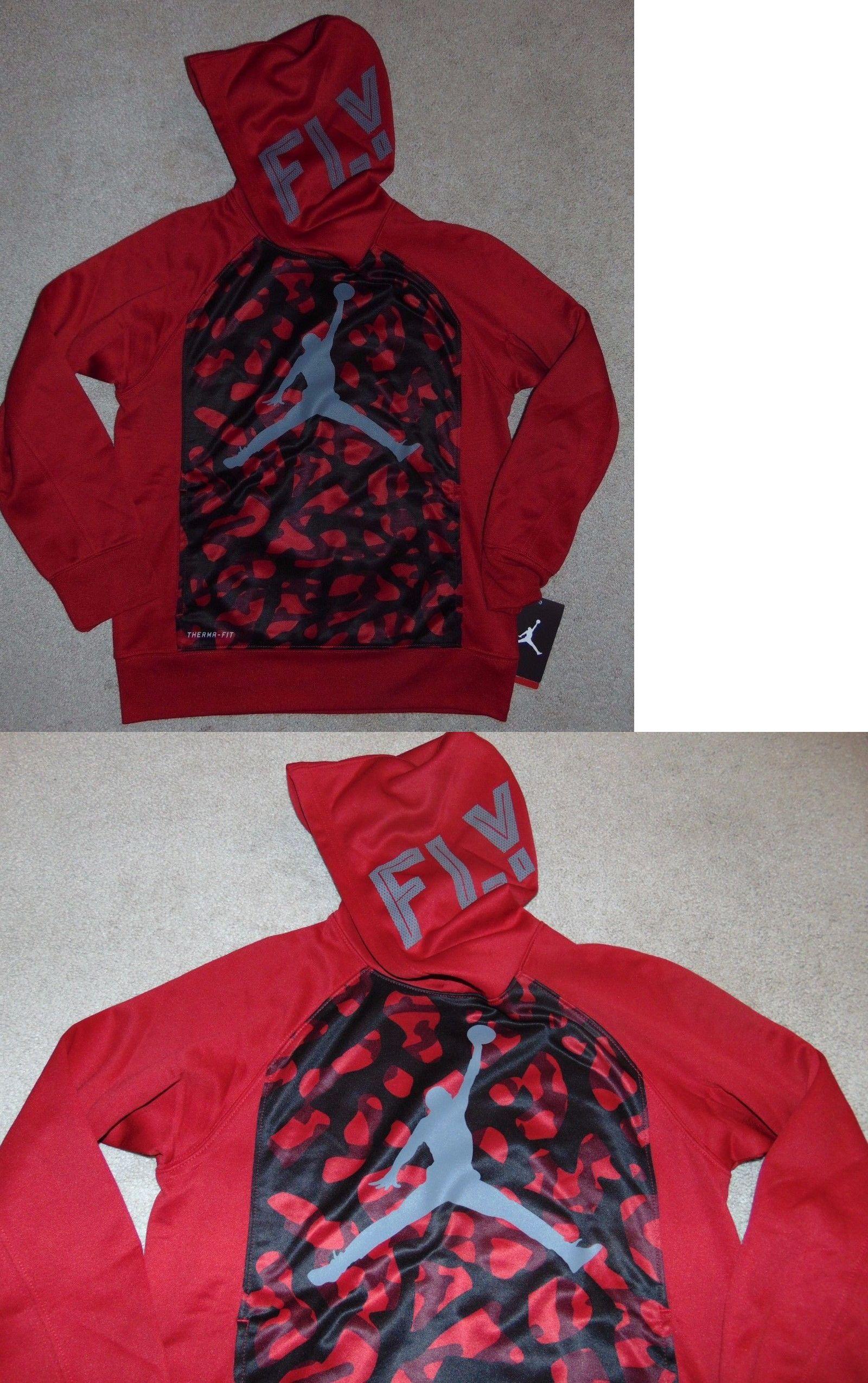 Sweatshirts and Hoodies 57916: ~Nwt Boys Nike Jordan Fly Therma-Fit ...