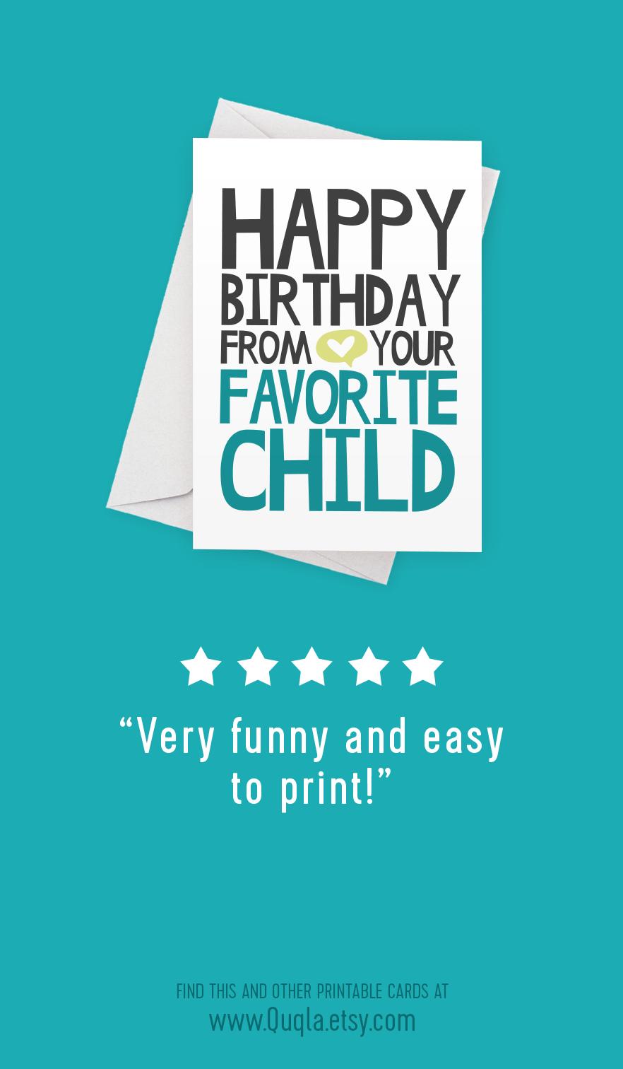Funny Happy Birthday Printable Card For Dad Happy Birthday Form