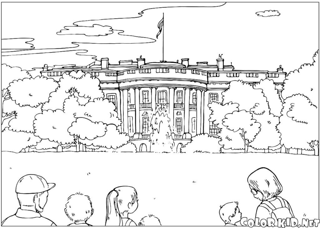 White House Coloring Page House Colouring Pages Super Coloring