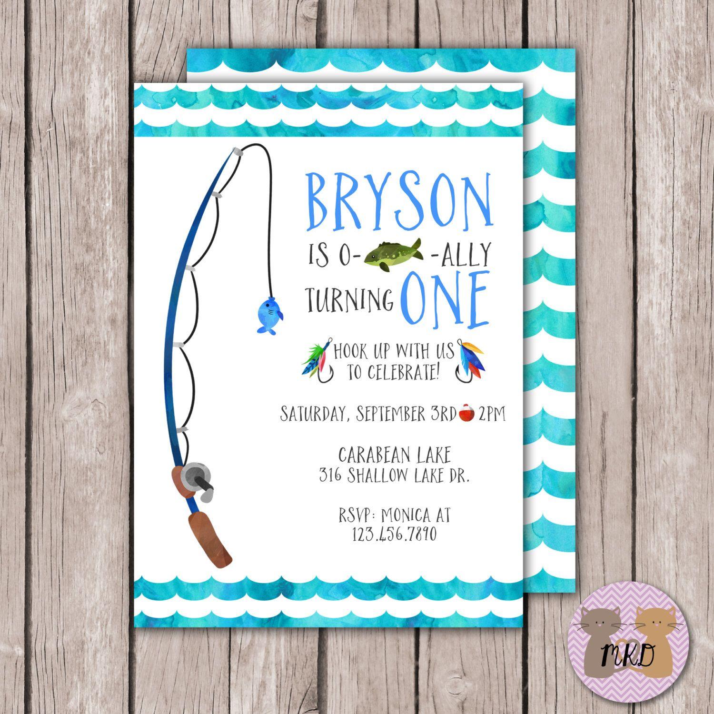 PRINTABLE- Gone Fishing Birthday Invite- Fishing Birthday Invite ...