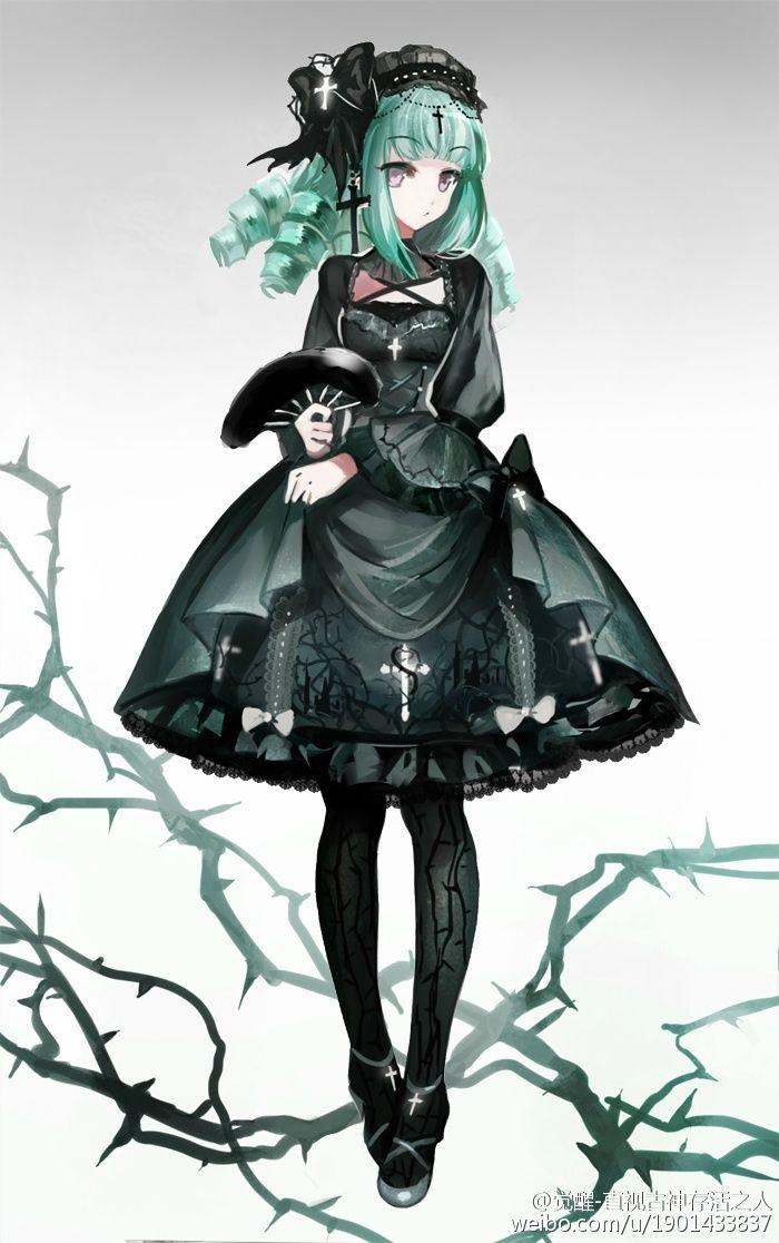 Gothic theme Lolita dress~ design it will be made into real dress [Designer weibou2022com/u ...