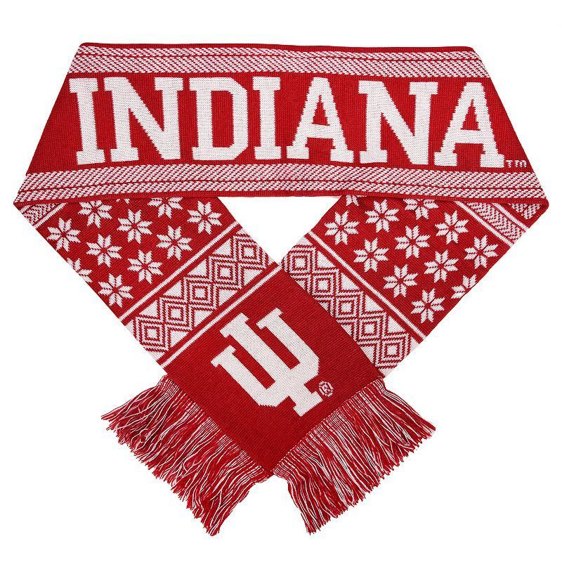 Adult Forever Collectibles Indiana Hoosiers Lodge Scarf, Multicolor