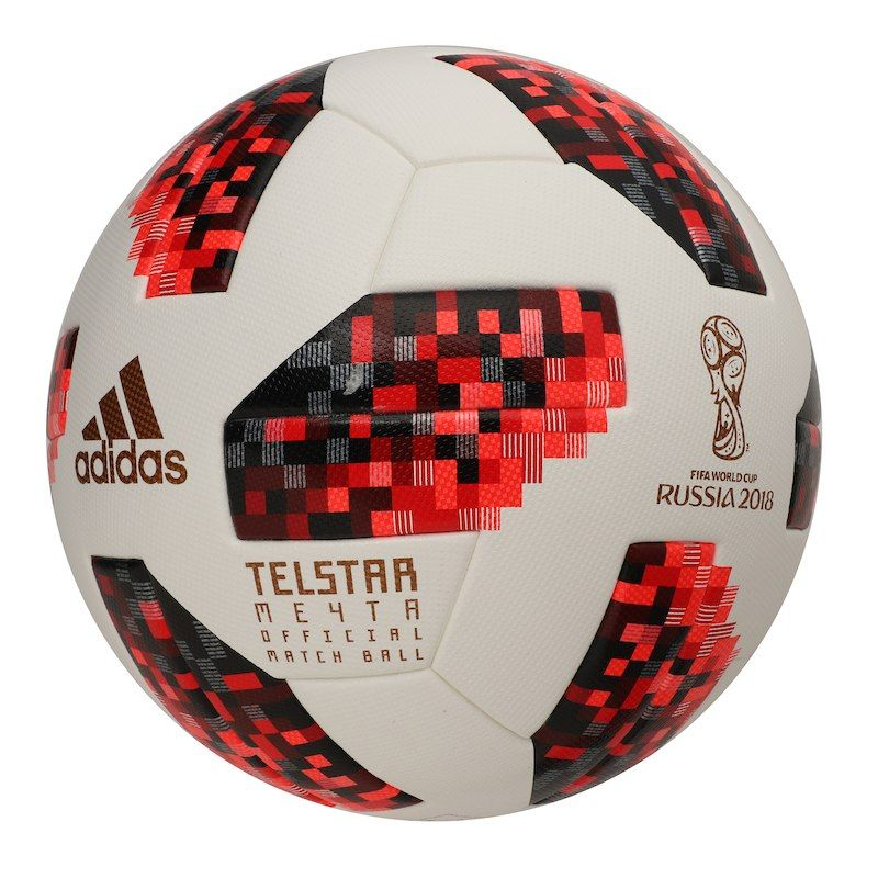 adidas 2018 FIFA World Cup Knockout OMB Soccer Ball – White Red ... a9de8c5d302