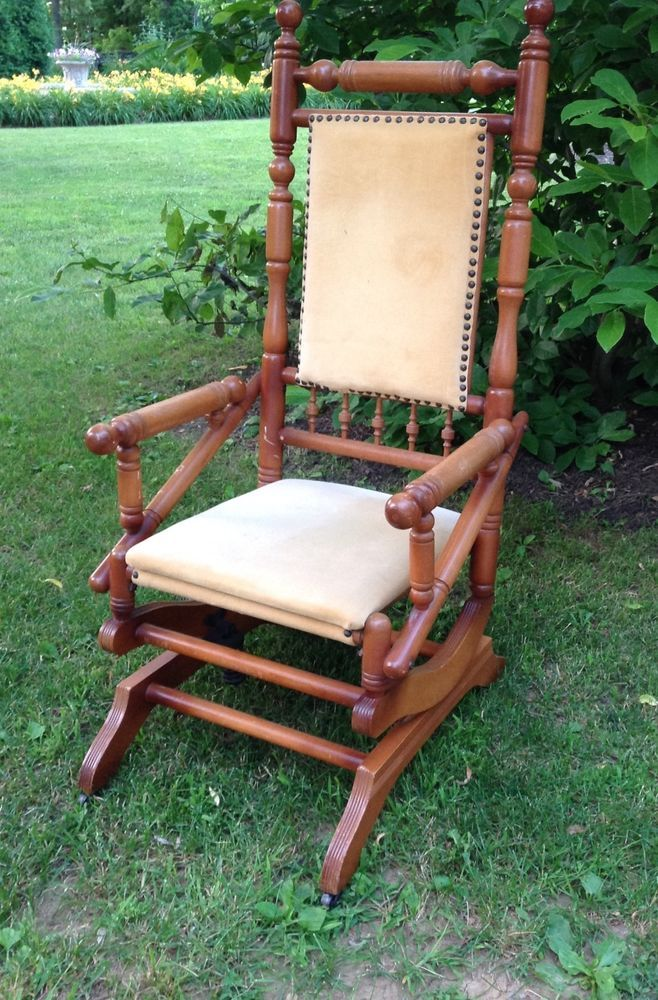 victorian eastlake platform rocker rocking chair in 2019 for sale chair rocking chair. Black Bedroom Furniture Sets. Home Design Ideas