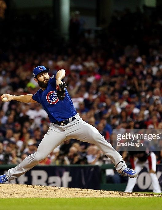 Jake Arrieta Chc Nov 1 2016 World Series Game 6 At Cle Cubs Fan Chicago Cubs World Series 2016