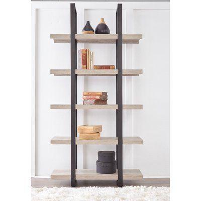 Ebern Designs Albin Etagere Bookcase Colour Grey Etagere