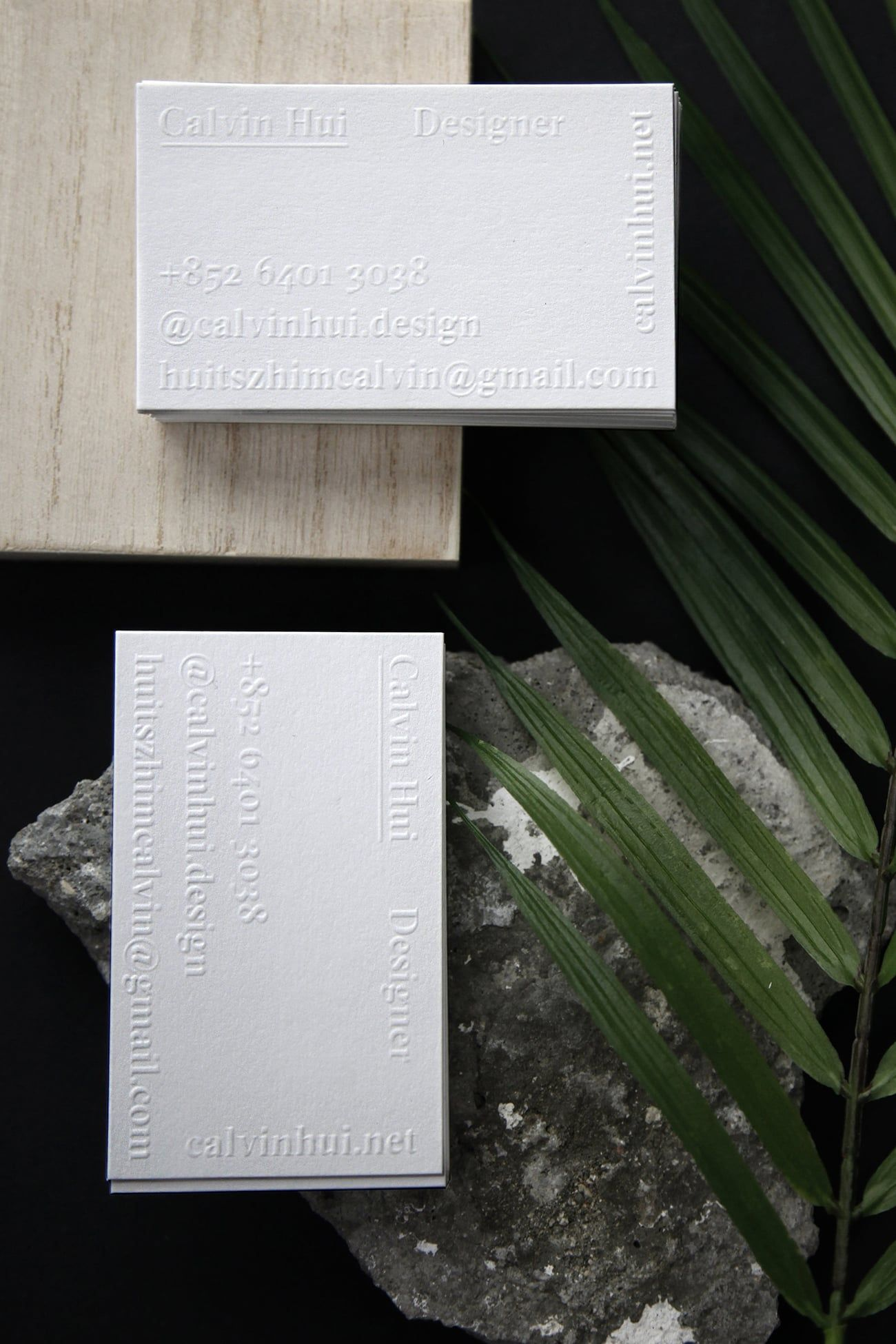 Calvin Hui designed its own business cards for his studio. He is a ...