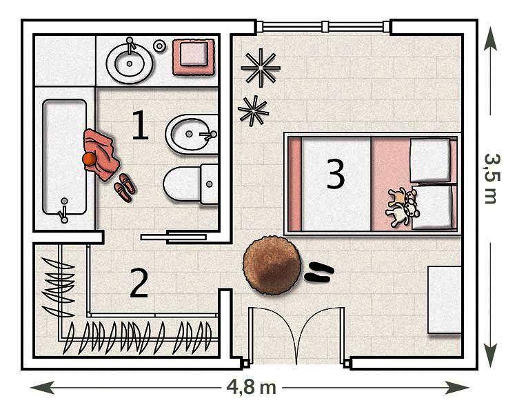 La Suite De Una Pequena Dama Planos De Dormitorios Plano De