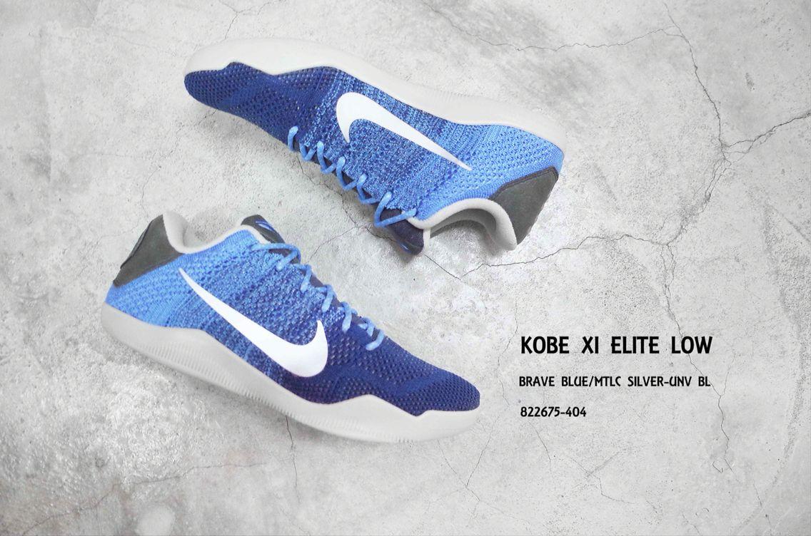 new arrival 7a9e3 097db Nike Kobe XI Elite Low 11 Bryant Avar Muse Brave Blue Basketball Shoe 822675 -404