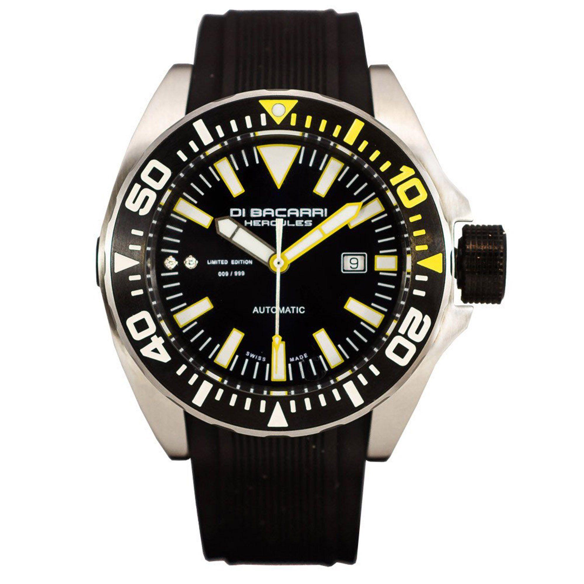 Di Bacarri Hercules Diamond Limited Edition ETA2824 Swiss Made Automatic Black Yellow