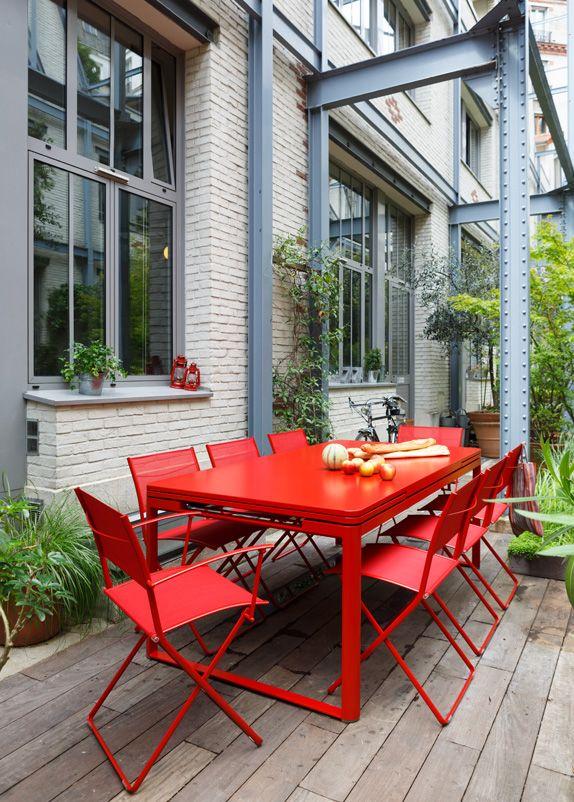 Fermob-salon-de-jardin-biarritz-plein-air-grande-tablée-d-été   Art ...