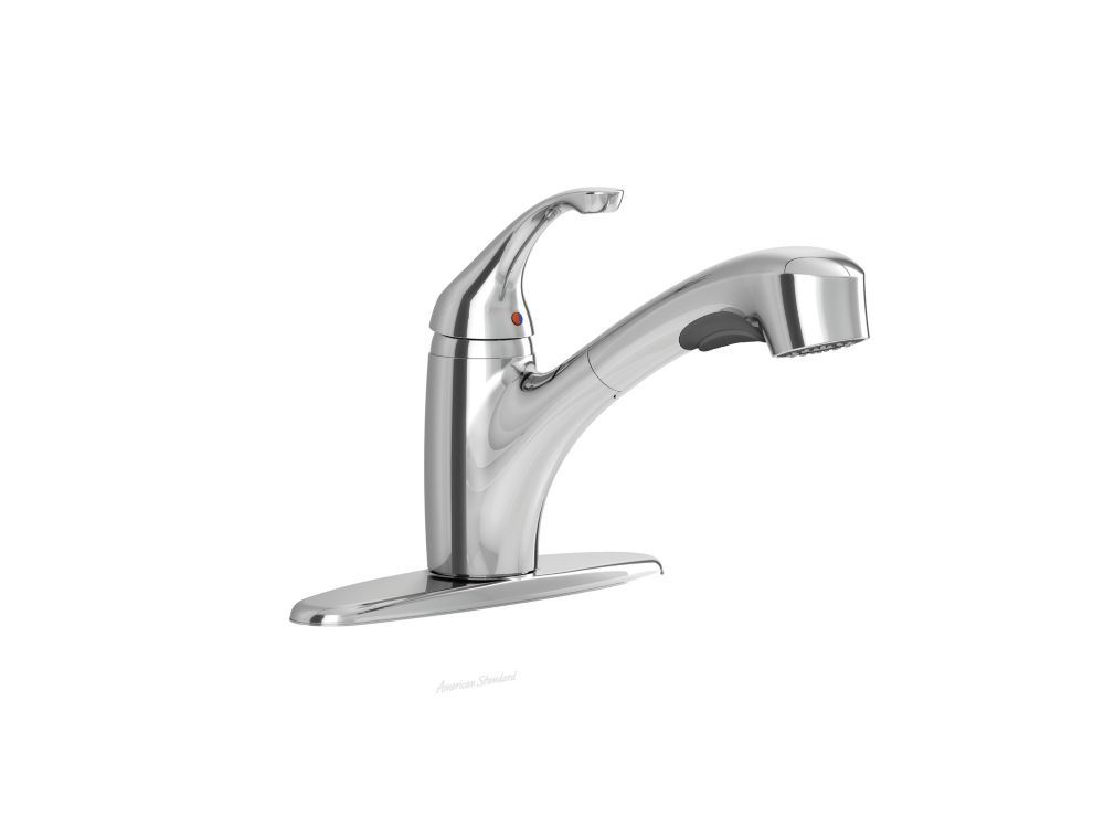 Jardin Single Handle Pull Out Spray Kitchen Faucet In Polished Chrome Products Faucet American Standard Polished Chrome