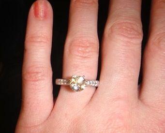 15 Carat Engagement Ring On Finger 50