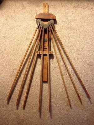 Vintage Wooden Favorite Clothes Dryer Drying Rack Wall Mounted