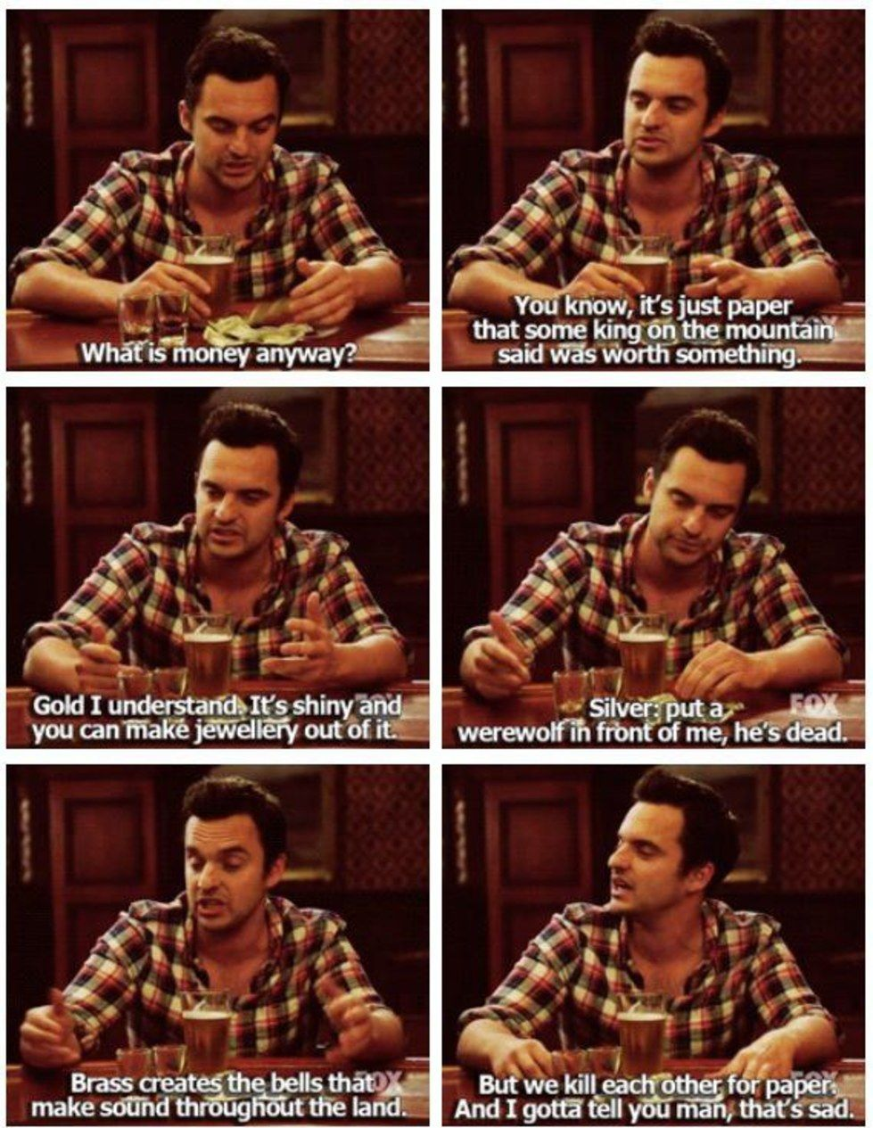11 Nick Miller Quotes That Will Make Every English Major Say Same New Girl Funny New Girl Quotes New Girl Memes
