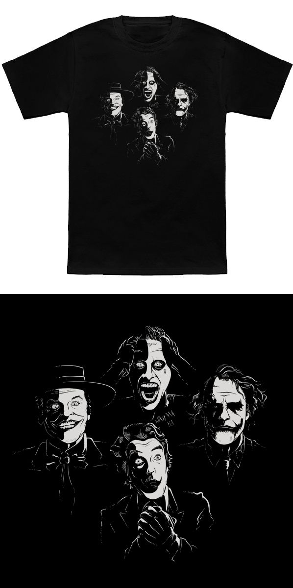 3dafc91dd Joker Bohemian Rhapsody T Shirt   This awesome Queen parody design features  the many faces of