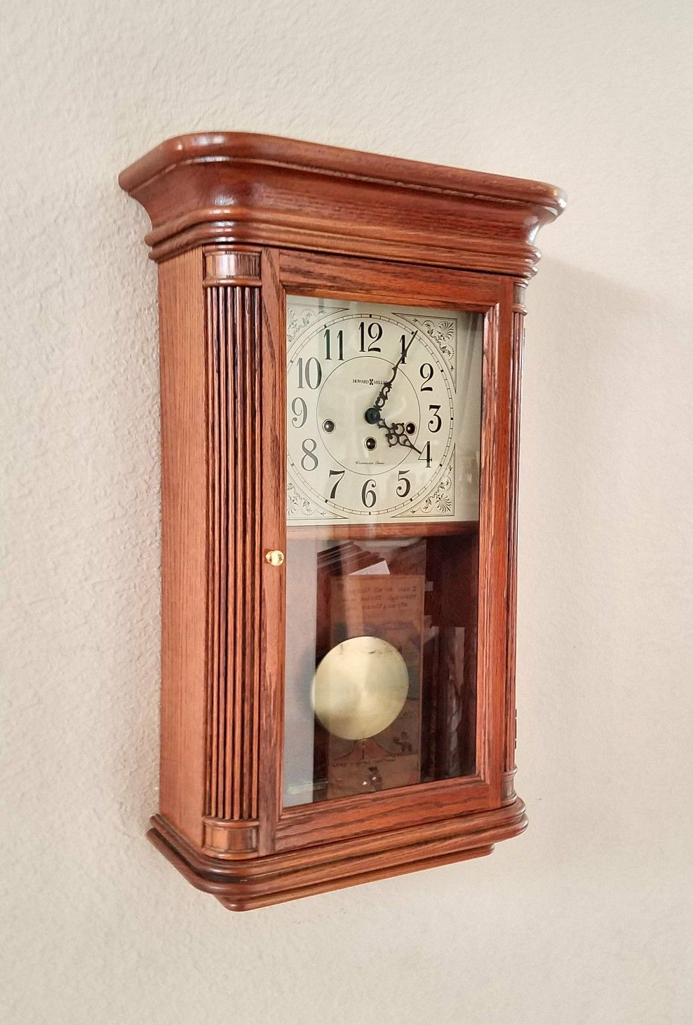 Professionally Restored Vintage Howard Miller Westminster Chime Pendulum Wall Clock From Theclo Pendulum Wall Clock Howard Miller Wall Clock Antique Wall Clock