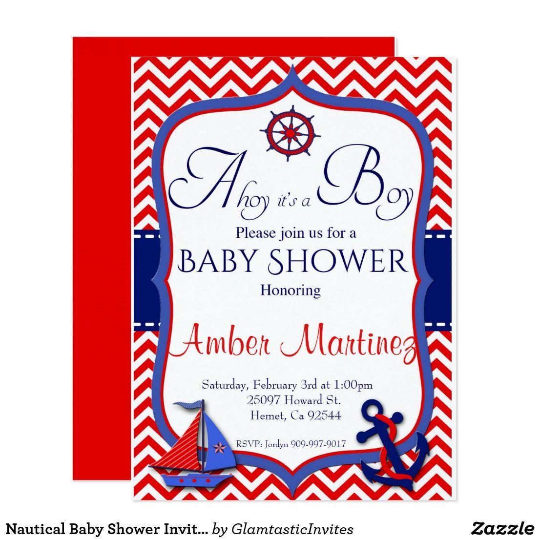 Nautical baby shower invitation ahoy its a boy c card zazzle nautical baby shower invitation ahoy its a boy c card zazzle filmwisefo