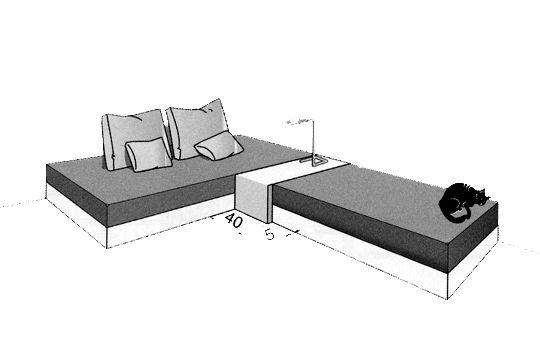 Plan chambre o mettre le lit dans la chambre - Separer une chambre en deux avec une seule fenetre ...