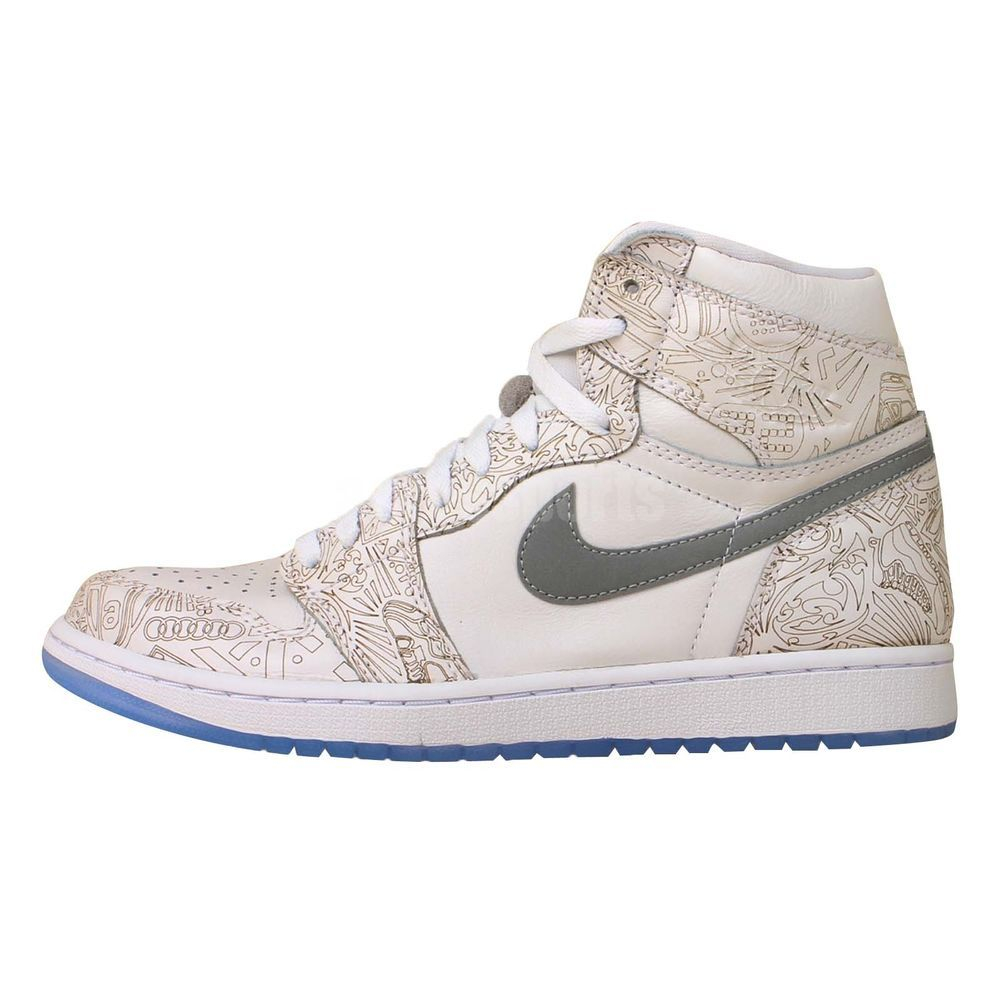 Nike Air Jordan 1 Retro Hi OG Laser 30th Anniversary White Silver Sneakers  Shoes http: