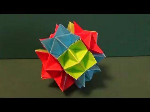 のり不要 スパイクボール ユニット折り紙paste Needlessness Spike Ball Unit Origami ユニット 折り紙 折り紙 おりがみの折り方